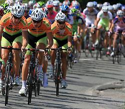Riders of KK Sava Kranj during 1st stage of the 15th Tour de Slovenie from Ljubljana to Postojna (161 km) , on June 11,2008, Slovenia. (Photo by Vid Ponikvar / Sportal Images)/ Sportida)