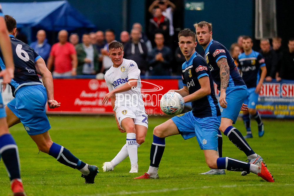 Leeds United Robbie Gotts (25) scores a goal to make the score 0-3 during the Pre-Season Friendly match between Tadcaster Albion and Leeds United at i2i Stadium, Tadcaster, United Kingdom on 17 July 2019.