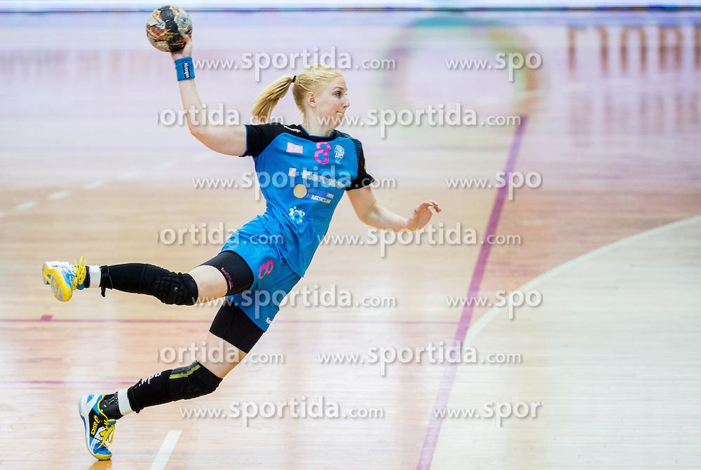 Tamara Mavsar of Krim during 2nd Leg handball match between RK Krim Mercator and HC Lada Togliatti (RUS) in Semifinal of Women Cup Winners' Cup 2015/16, on April 9, 2016 in Arena Kodeljevo, Ljubljana, Slovenia. Photo by Vid Ponikvar / Sportida
