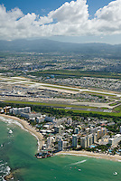 Aerial view of Isla Verde  and Airport