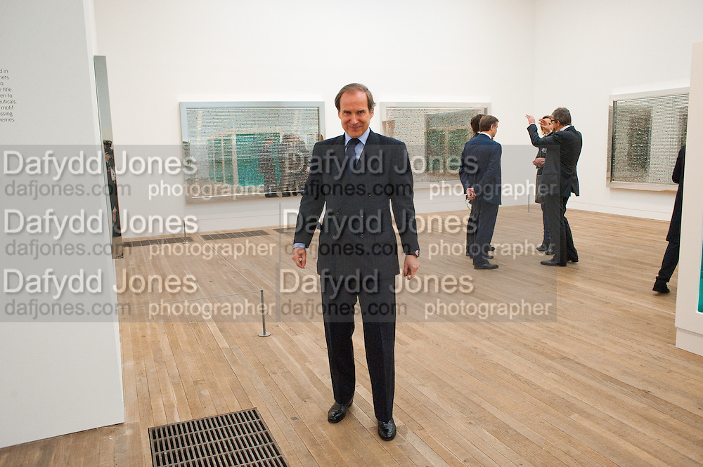 SIMON DE PURY, Damien Hirst, Tate Modern: dinner. 2 April 2012.