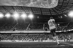 HARRISON, NJ - JULY 19:Thierry Henry #14 of New York Red Bulls in action during the match against the San Jose Earthquakes at Red Bulls Arena on July 19, 2014. (Photo By: Rob Tringali) Thierry Henry