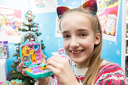 Polly Pocket World assortment from Mattel retails at 12.99. Ahead of Christmas the Dream Toys exhibition at St Mary's Church in Marylebone, London showcases the hottest toys in the market including the top twelve. London, November 14 2018.