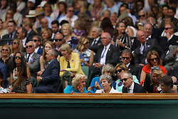 July 13, 2019 - London, England - LONDON, ENGLAND - JULY 13:  Thresa May  attend the Women's Singles Final of the Wimbledon Tennis Championships at All England Lawn Tennis and Croquet Club on July 13, 2019 in London, England...People:  Thresa May. (Credit Image: © SMG via ZUMA Wire)
