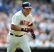 Ryan Garko of the Cleveland Indians..The Minnesota Twins defeated the Cleveland Indians 4-2 on Sunday, July 27, 2008 at Progressive Field in Cleveland.