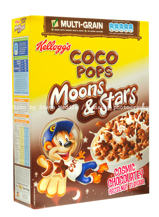 Box of Kelloggs Coco Pops Moons & Stars Breakfast Cereal - Aug 2009