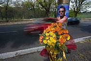 Roma, 05/04/2014: lapide su via Leone XIII in memoria di un incidente mortale - grave along the street in memory of a fatal car accident.