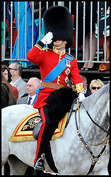 Prince William Salutes on Horse Guards Parade for the Queen's Trooping of the Colour, The Queen's Birthday Parade, Saturday June 16, 2012. Photo by Andrew Parsons/i-Images..All Rights Reserved ©Andrew Parsons/i-Images .See Special Instructions