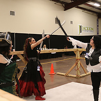 Attendees of Saturday's Tupelo Comic Con were treated to sword play