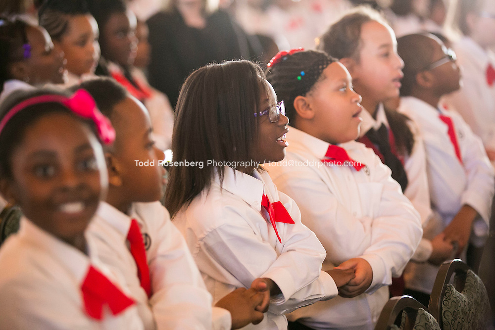 2/10/16 12:39:50 PM <br /> Chicago Children's Choir Black History Month Navy Pier Celebration. <br /> <br />  &copy; Todd Rosenberg Photography 2016