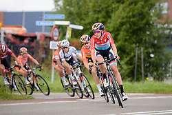 Christine Majerus leads as Boels Dolmans sets the pace at the 116 km Stage 5 of the Boels Ladies Tour 2016 on 3rd September 2016 in Tiel, Netherlands. (Photo by Sean Robinson/Velofocus).