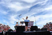 Republican Vice Presidential Candidate and Alaska Governor Sarah Palin speaks at a rally at the Richmond International Raceway in Richmond, Virginia USA, on 13 October 2008. Palin and her running mate Senator John McCain are behind in many national voter polls.