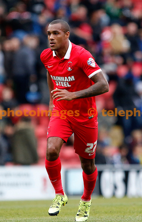 Jay Simpson of Leyton Orient in action during the Sky Bet League 2 match between Leyton Orient and Oxford United at the Matchroom Stadium in London. October 17, 2015.<br /> Carlton Myrie / Telephoto Images<br /> +44 7967 642437
