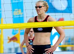 18-062005 BEACHVOLLEYBAL: NESSELANDE TOERNOOI: ROTTERDAM<br /> De zeer zonnige derde ronde van de Eredivisie Beach Volleyball op het strand aan de Zevenhuizerplas te Rotterdam-Nesselande leverde geen verrassingen op / <br /> <br /> ©2005-WWW.FOTOHOOGENDOORN.NL