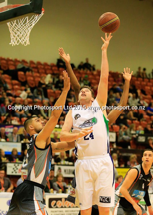 Ranger's Dillon Boucher puts up a shot. NBL basketball, Hawkes Bay Hawks  v Super City Rangers, PG Arena, Napier, New Zealand. Saturday, 18 April, 2015. Copyright photo: John Cowpland / www.photosport.co.nz