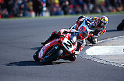 World Superbike racing at Donington Park, Derbyshire.