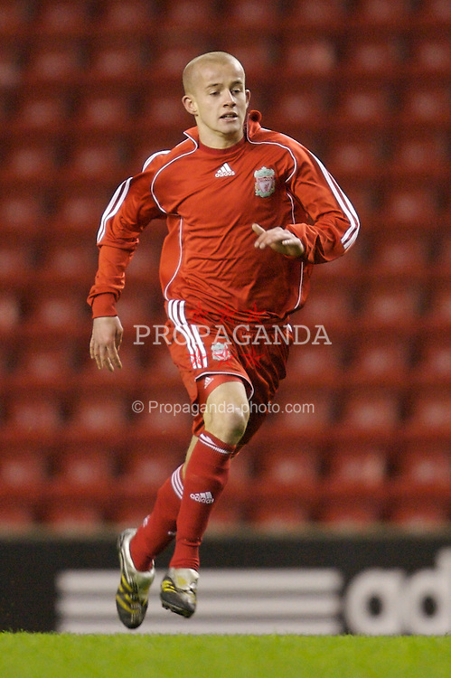 Liverpool, England - Monday, March 3, 2007: Liverpool's Michael Scott in action against Newcastle United during the FA Youth Cup Semi-Final 2nd Leg at Anfield. (Pic by David Rawcliffe/Propaganda)