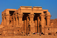 view on the Kom Ombo temple along the river nile in upper egypt