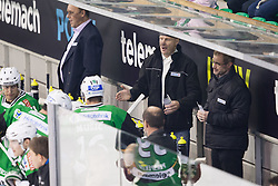 23.10.2012. Hala Tivoli, Ljubljana, SLO, EBEL, HDD Telemach Olimpija Ljubljana vs HC TWK Innsbruck Die Haie, 15. Runde, in picture Bojan Zajc, head coach of HDD Telemach Olimpija, during the Erste Bank Icehockey League 15th Round match between HDD Telemach Olimpija Ljubljana and HC TWK Innsbruck Die Haie at the Hala Tivoli, Ljubljana, Slovenia on 2012/10/23. (Photo By Matic Klansek Velej / Sportida)