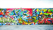 Spectacular graffiti mural in Miami's Wynwood Arts District