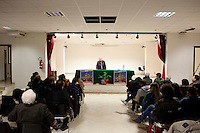 29 February 2012- Palermo, Italy: Rita Borsellino in an assembly in Brancaccio, a district of Palermo. Rita Borsellino, 66, is the mayor candidate in the centre-left primary campaing for the local elections of the city of Palermo, Sicily. ### 29 febbraio 2012 - Palermo, Italia. Rita Borsellino in un'assemblea  cittadina nel quartiere di Brancaccio a Palermo. Rita Borsellino, 66 anni, è il candidato sindaco alle primare del centrosinistra per le elezioni amministrative della città di Palermo, Sicilia.