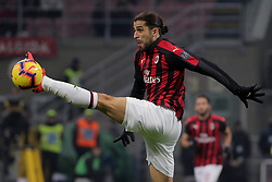 January 26, 2019 - Milan, Milan, Italy - Ricardo Rodriguez #68 of AC Milan in action during the serie A match between AC Milan and SSC Napoli at Stadio Giuseppe Meazza on January 26, 2018 in Milan, Italy. (Credit Image: © Giuseppe Cottini/NurPhoto via ZUMA Press)