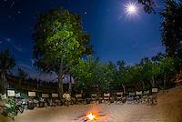 Starry sky, Kwara Camp, Okavango Delta, Botswana.