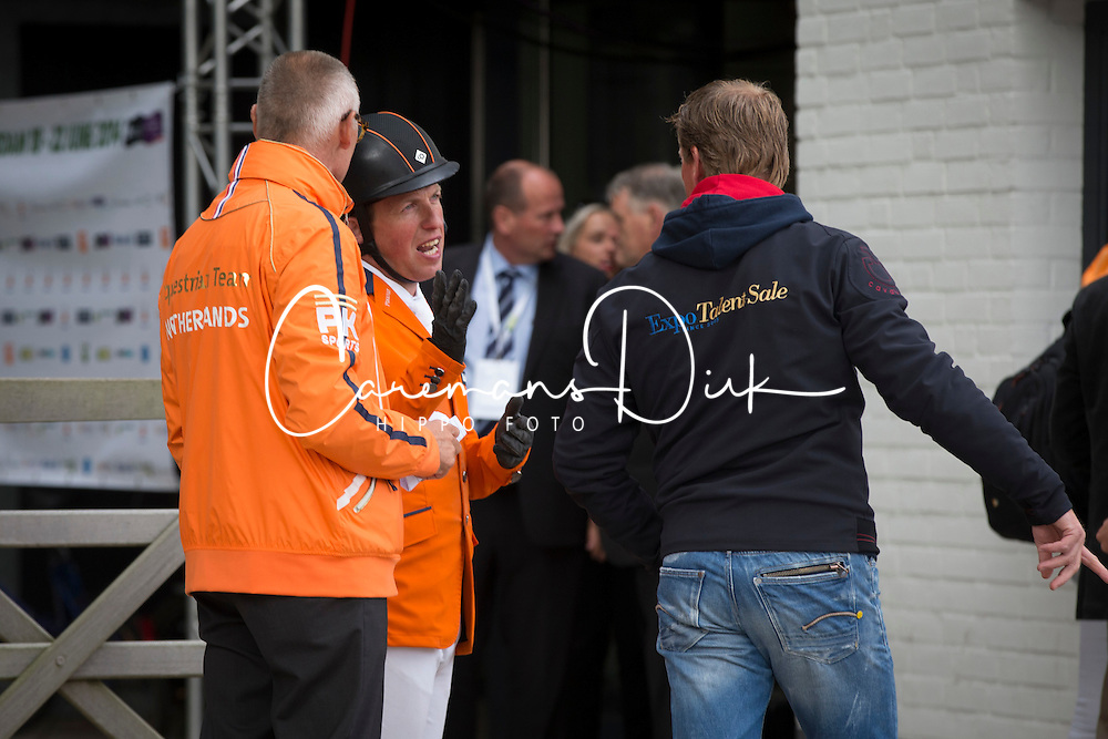 Schroder Gerco (NED), Ervic Van der Vleuten and chef d'equipe Rob Ehrens.<br /> Furusiyya FEI NATIONS CUP presented by Longines<br /> CHIO Rotterdam 2014<br /> &copy; Dirk Caremans