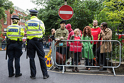 © Licensed to London News Pictures. 07/06/2017. London, UK. Labour party supporters await the arrival of Jeremy Corbyn at Union Chapel in his own constituency where he will speak at his last rally before Britain heads to the polls for the General Election. Photo credit: Rob Pinney/LNP