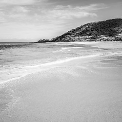Makena Big Beach Maui Hawaii vertical black and white photo. Big Beach is in Wailea-Makena Kihei Hawaii and is one of Maui's most popular beaches. Copyright ⓒ 2019 Paul Velgos with All Rights Reserved.