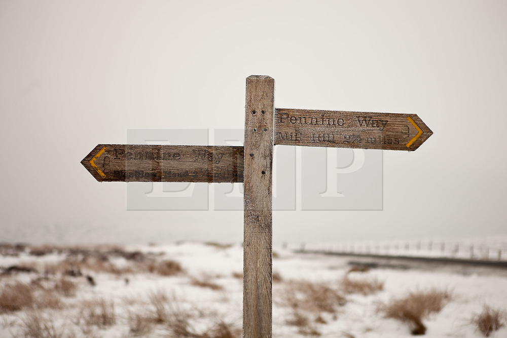 © Licensed to London News Pictures. 10/02/2012. Derbyshire, UK. The landscape on the Pennine Way, across the Peak District, is frozen in sub-zero termparates. Photo credit : Joel Goodman/LNP