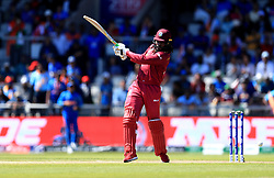 West Indies' Chris Gayle in batting action during the ICC Cricket World Cup group stage match at Emirates Old Trafford, Manchester.