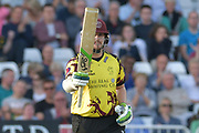 Fifty for Steve Davies during the NatWest T20 Blast Quarter Final match between Notts Outlaws and Somerset County Cricket Club at Trent Bridge, West Bridgford, United Kingdom on 24 August 2017. Photo by Simon Trafford.