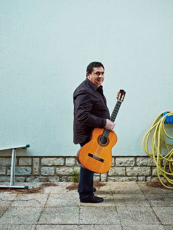 TOULOUSE, FRANCE. DECEMBER 18, 2013. Tonino Baliardo, lead guitarist of the Gipsy Kings, at home. Photo: Antoine Doyen