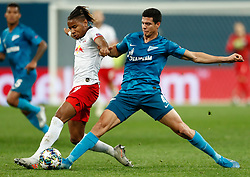November 4, 2019, Saint Petersburg, USA: SAINT PETERSBURG, RUSSIA - NOVEMBER 05: forward Christopher Nkunku of RB Leipzig and defender Iordan Osorio of FC Zenit vie for tha ball during UEFA Champions League match FC Leipzig at FC Zenit on November 05, 2019, at Saint Petersburg Stadium in Saint Petersburg, Russia. (Photo by Anatoliy Medved/Icon Sportswire) (Credit Image: © Anatoliy Medved/Icon SMI via ZUMA Press)