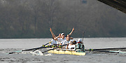 London, GREAT BRITAIN,  Cambridge celebrate after winning  the 2007 Boat Race between Putney to Mortlake, on  Sat. April 7th. England [Photo Peter Spurrier/Intersport Images].CAMBRIDGE BLUE BOAT, bow, Kristopher McDaniel, Dan O?Shaughnessy, Peter Champion, Jacob (Jake) Cornelius, Tom James [President], Kieran West, Sebastian Schulte, Thorsten Engelmann, cox, Rebecca Dowbiggin Varsity Boat Race, Rowing Course: River Thames, Championship course, Putney to Mortlake 4.25 Miles,
