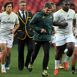 PORT ELIZABETH, SOUTH AFRICA - JUNE 27: GV during the South African National rugby team captains run and official team photograph at Nelson Mandela Bay Stadium on June 27, 2014 in Port Elizabeth, South Africa. (Photo by Steve Haag/Gallo Images)