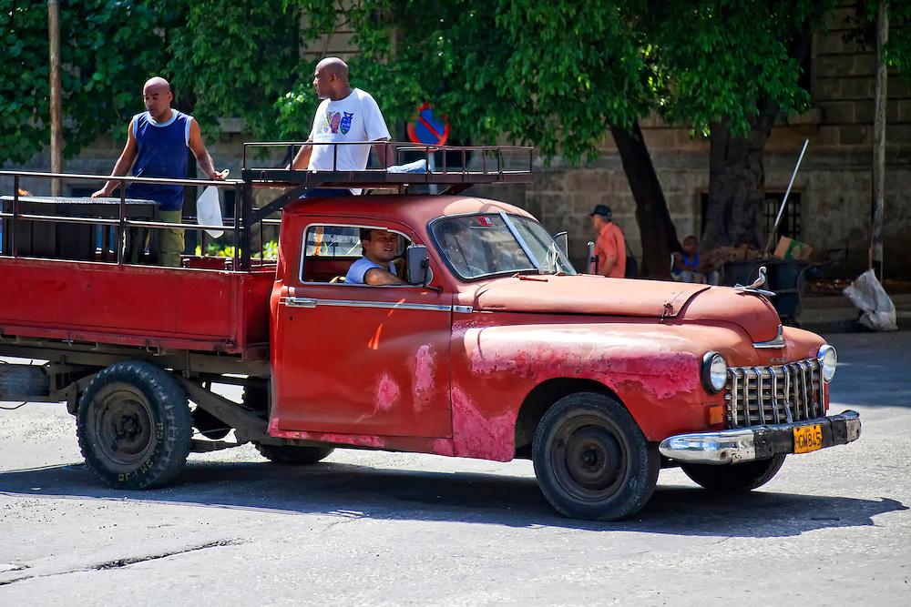Car to truck conversion in Havana, Cuba. | Robin Thom Photography