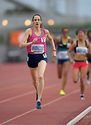 Apr 19, 2019; Torrance, CA, USA; Sarah Lancaster wins the invitational women's 1,500m in 4:19.53 during the 61st Mt. San Antonio College Relays at El Camino College.