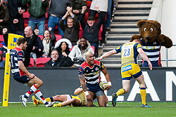Tom Varndell of Bristol Rugby scores a try - Rogan Thomson/JMP - 26/12/2016 - RUGBY UNION - Ashton Gate Stadium - Bristol, England - Bristol Rugby v Worcester Warriors - Aviva Premiership Boxing Day Clash.