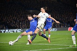 09.03.2016, Stamford Bridge, London, ENG, UEFA CL, FC Chelsea vs Paris Saint Germain, Achtelfinale, Rueckspiel, im Bild ivanovic branislav, ibrahimovic zlatan // during the UEFA Champions League Round of 16, 2nd Leg match between FC Chelsea vs Paris Saint Germain at the Stamford Bridge in London, Great Britain on 2016/03/09. EXPA Pictures © 2016, PhotoCredit: EXPA/ Pressesports/ MOUNIC ALAIN<br /> <br /> *****ATTENTION - for AUT, SLO, CRO, SRB, BIH, MAZ, POL only*****