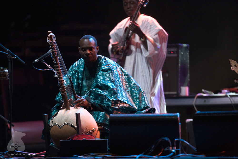 Toumani Diabate's Symmetric Orchestra (Mali) performs at WOMAD 2008, in New Plymouth, Taranaki, New Zealand, on March 14, 2008. Toumani Diabate is Mali's kora virtuoso. The 21-string kora is a harp-like instrument. Some of Mr. Diabate's notable musical collaborations include recordings with american Blues legend Taj Mahal and african superstar Salif Keita. WOMAD is New Zealand's largest world music and dance festival.