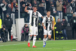 December 7, 2018 - Milan, Piedmont, Italy - Mario Mandzukic (Juventus FC) celebrates after scoring during the Serie A football match between Juventus FC and FC Internazionale at Allianz Stadium on December 07, 2018 in Turin, Italy..Juventus won 1-0 over Internazionale. (Credit Image: © Massimiliano Ferraro/NurPhoto via ZUMA Press)