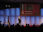 Yoko Ono, The Q Awards, the  magazine's annual music awards,  Grosvenor House. October 10 2005. ONE TIME USE ONLY - DO NOT ARCHIVE © Copyright Photograph by Dafydd Jones 66 Stockwell Park Rd. London SW9 0DA Tel 020 7733 0108 www.dafjones.com