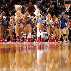 March 3, 2011; Miami, FL, USA; Miami Heat dancers perform following the first  quarter of a game against the Orlando Magic at the American Airlines Arena.    Mandatory Credit: Derick E. Hingle