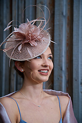 LIVERPOOL, ENGLAND - Thursday, April 6, 2017: Sophie Ascroft, 18 from Ormskirk, during The Opening Day on Day One of the Aintree Grand National Festival 2017 at Aintree Racecourse. (Pic by David Rawcliffe/Propaganda)