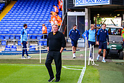 AFC Wimbledon Manager Wally Downes walks onto the pitch during the EFL Sky Bet League 1 match between Ipswich Town and AFC Wimbledon at Portman Road, Ipswich, England on 20 August 2019.