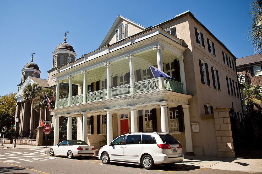 Historic home on Meeting Street in Charleston, SC.