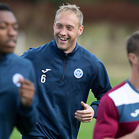 St Johnstone FC Training...11.09.15<br /> Steven Anderson pictured in training this morning ahead of tomorrow's game against Hamilton Accies<br /> Picture by Graeme Hart.<br /> Copyright Perthshire Picture Agency<br /> Tel: 01738 623350  Mobile: 07990 594431