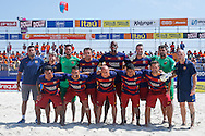 The Barcelona team have their photo taken at the Mundialito de Clubes 2015 - Foto: Marcello Zambrana/Divulgação